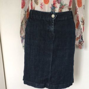 J. Crew spandex denim fitted skirt